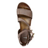 Ladies' sandals with a distinctive sole bata, brown , 666-4604 - 19