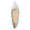 White leather ballet pumps bata, white , 524-1604 - 26