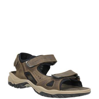 Men's leather sandals weinbrenner, brown , 866-3630 - 13