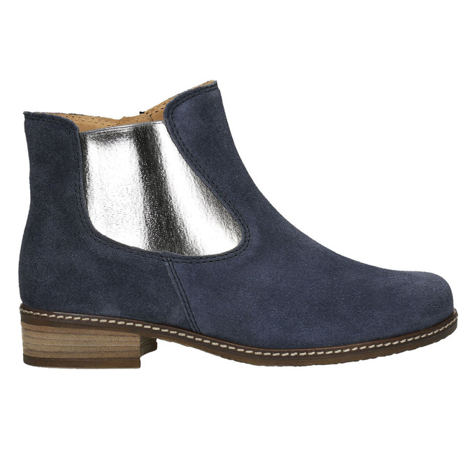 Brushed leather high ankle boots gabor, blue , 613-9013 - 15
