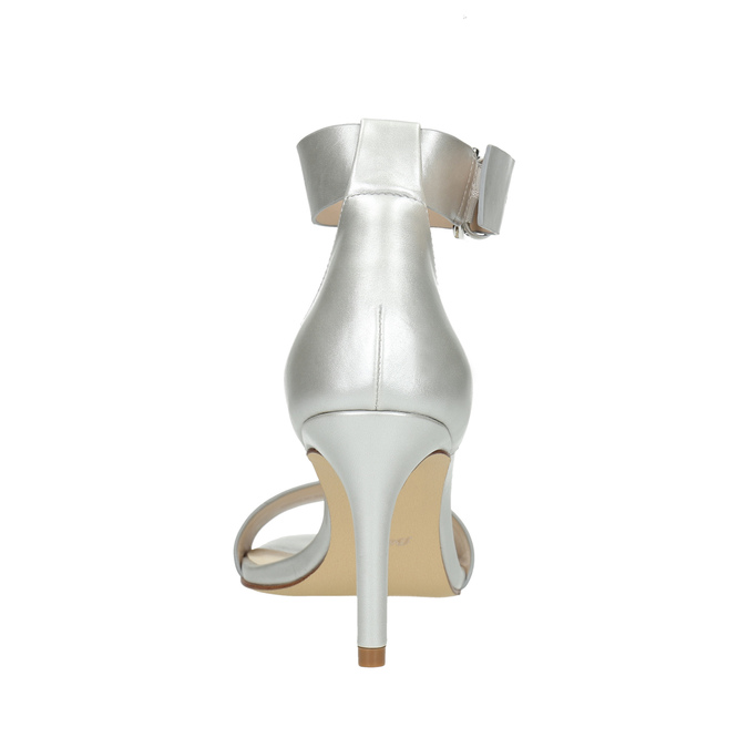 Silver heeled sandals insolia, silver , 761-1608 - 17