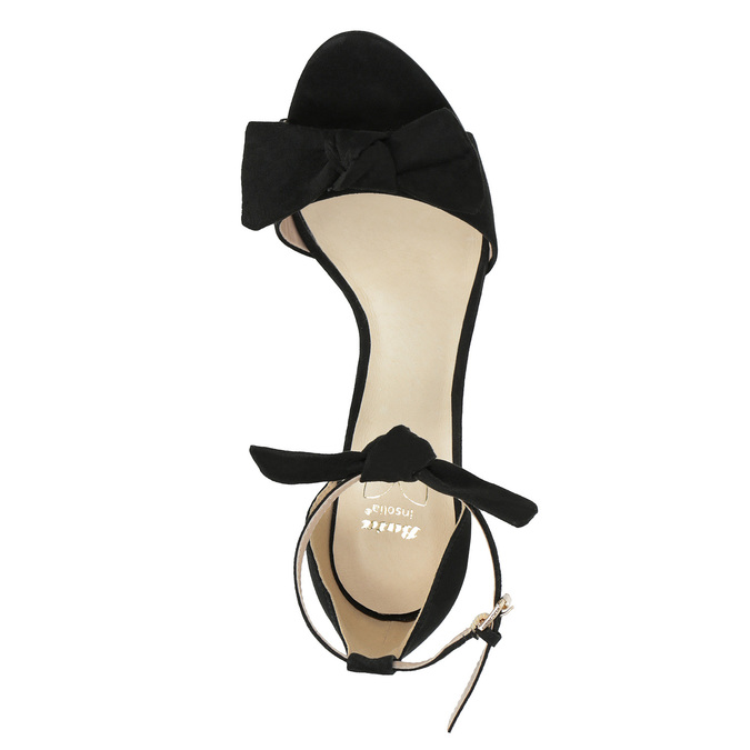 Ladies' black heeled sandals insolia, black , 769-6614 - 19