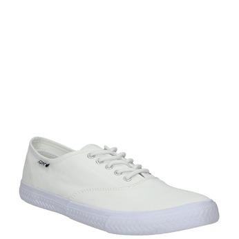 White casual sneakers tomy-takkies, white , 889-1227 - 13