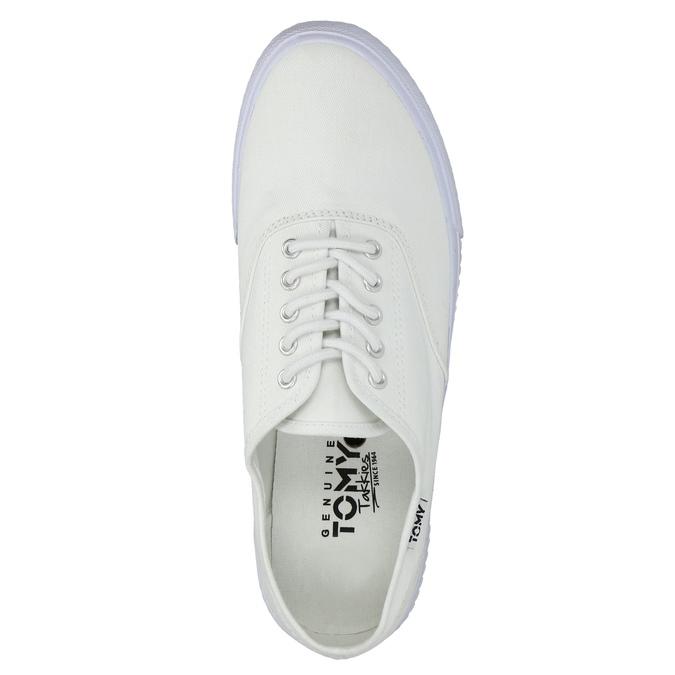 White casual sneakers tomy-takkies, white , 889-1227 - 19