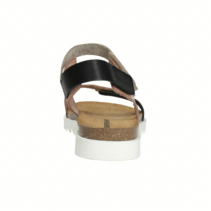 Ladies' leather sandals with Velcro fasteners weinbrenner, pink , 566-3630 - 17