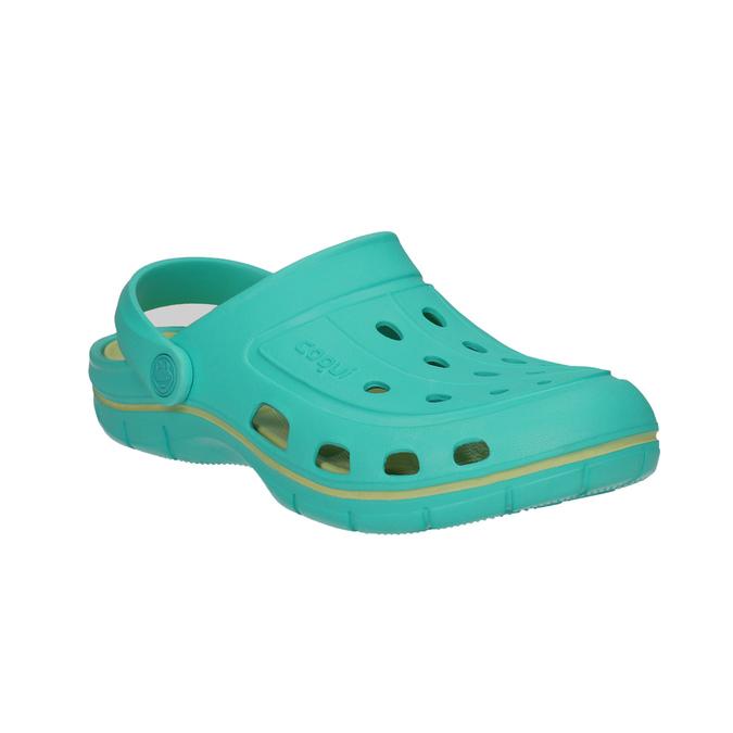 Ladies' turquoise sandals coqui, turquoise, 572-9606 - 13