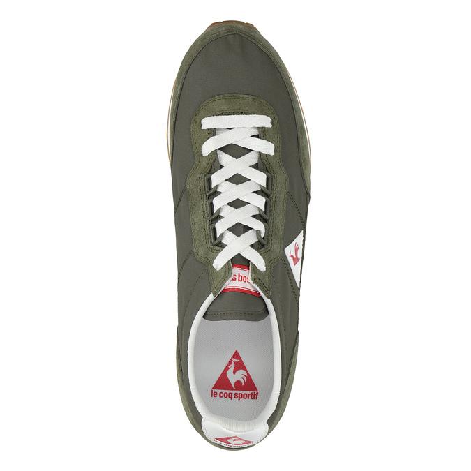 Men's khaki sneakers le-coq-sportif, green, 809-7272 - 19