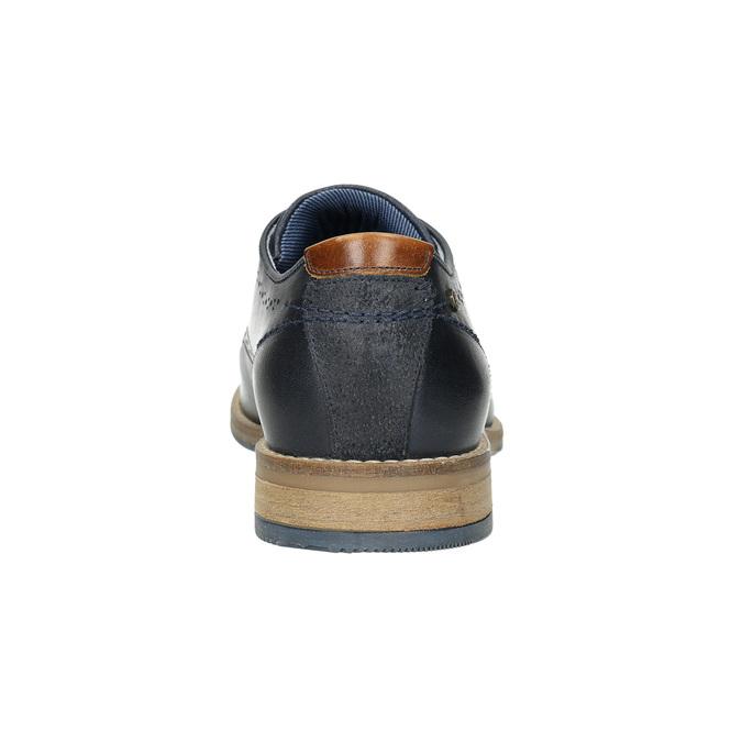 Informal leather shoes bata, blue , 826-9910 - 17