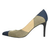 Ladies stiletto pumps insolia, blue , 729-9607 - 26