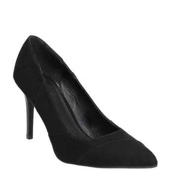 Ladies pointed pumps insolia, black , 729-6607 - 13