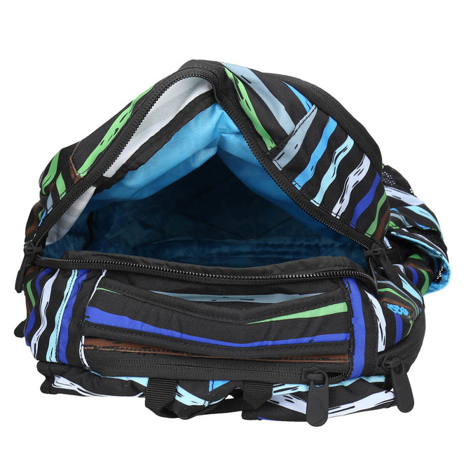 School backpack with stripes bagmaster, blue , 969-9651 - 15