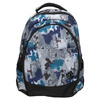 School backpack with print bagmaster, gray , 969-2649 - 26