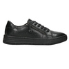 Ladies' leather sneakers bata, black , 526-6630 - 15