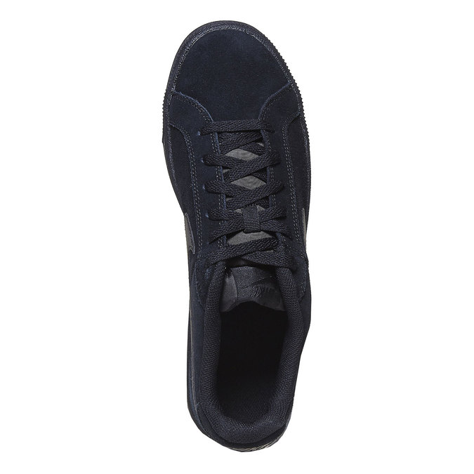 Men's leather sneakers nike, black , 803-6302 - 19