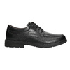 Casual leather shoes with stitching, black , 824-6987 - 15