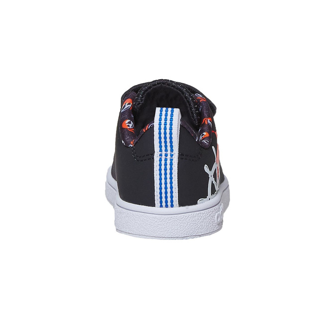 Children's sneakers with printed motif adidas, black , 101-6133 - 17