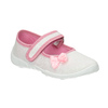 Kids' slippers with a bow mini-b, white , 379-1214 - 13