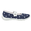 House slippers with stars mini-b, blue , 379-2215 - 15