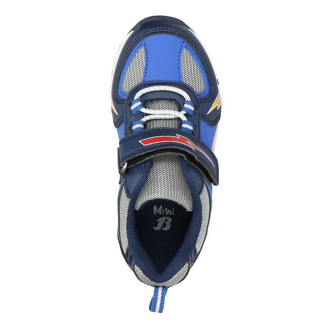 Boys' sneakers with print mini-b, blue , 211-9183 - 26