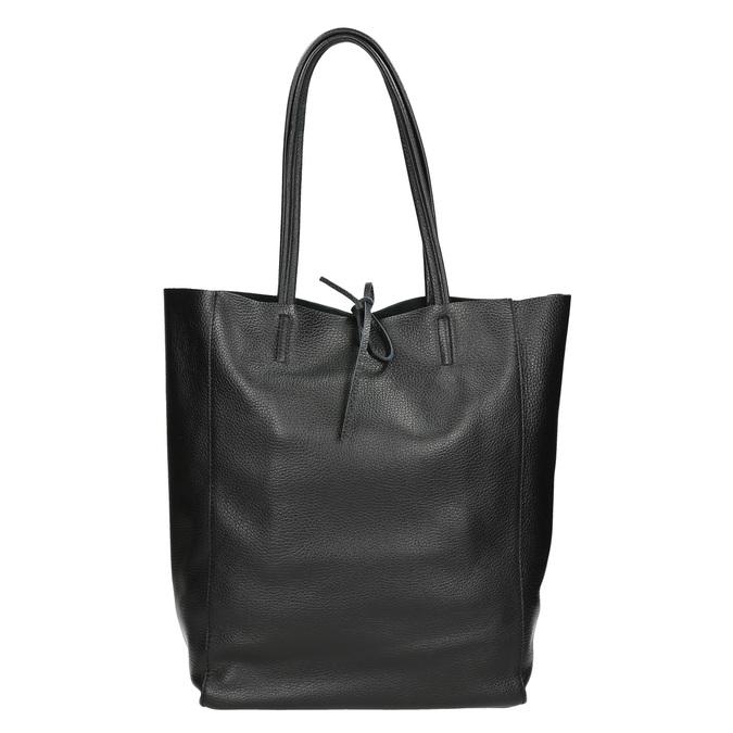 Leather handbag v Shopper style, black , 964-6122 - 26