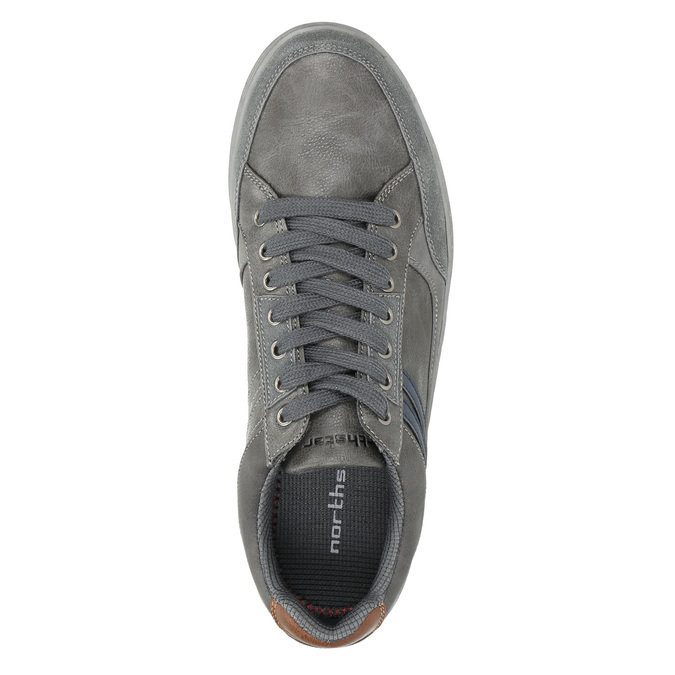 Men's grey sneakers north-star, gray , 841-2607 - 26