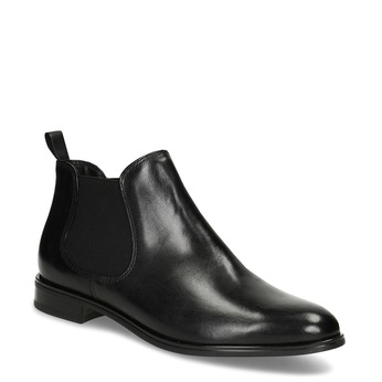 Black leather Chelsea style boots bata, black , 594-6635 - 13