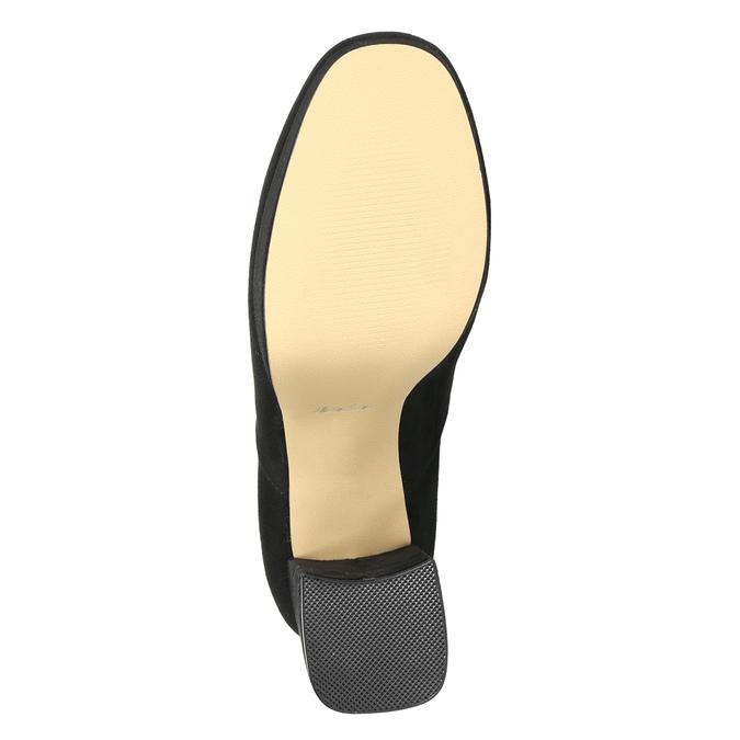 Ladies' high boots with a distinctive heel bata, black , 799-6664 - 19