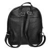 Black leather backpack, black , 964-6240 - 16