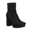 Ladies' high boots with a distinctive heel bata, black , 799-6664 - 13