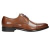 Brown leather Derby shoes bata, brown , 826-3682 - 15