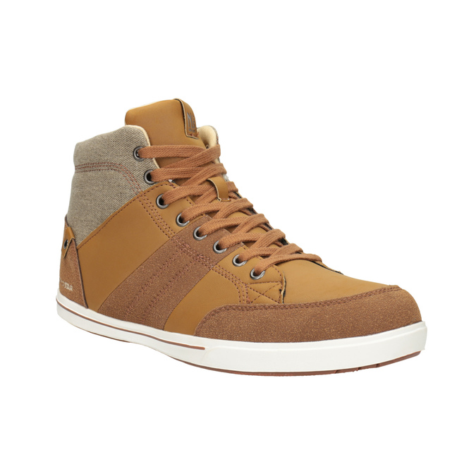 Men's high-top sneakers north-star, brown , 841-3608 - 13
