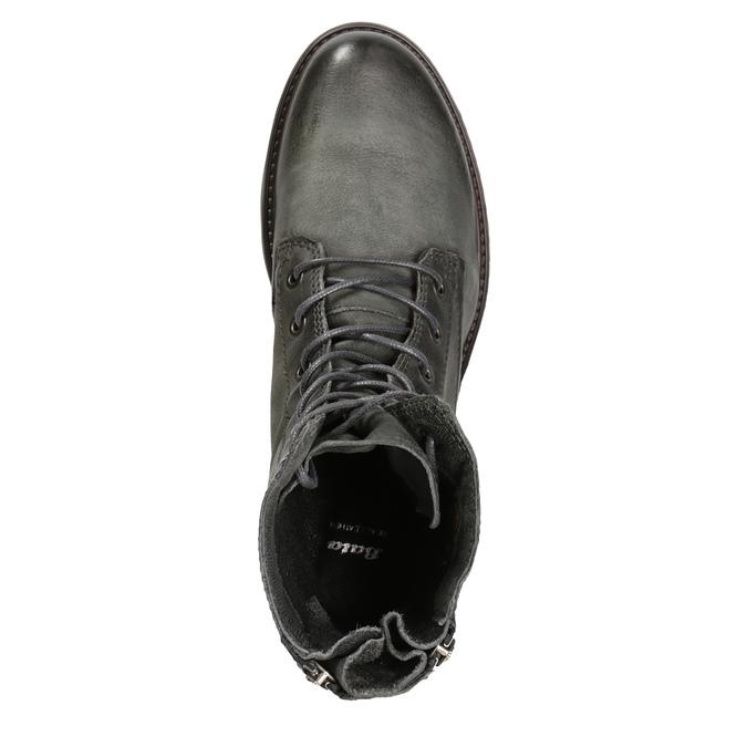 Ladies' Leather Boots bata, gray , 596-2616 - 15