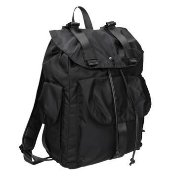 Black Backpack with Pockets bata, black , 969-6163 - 13