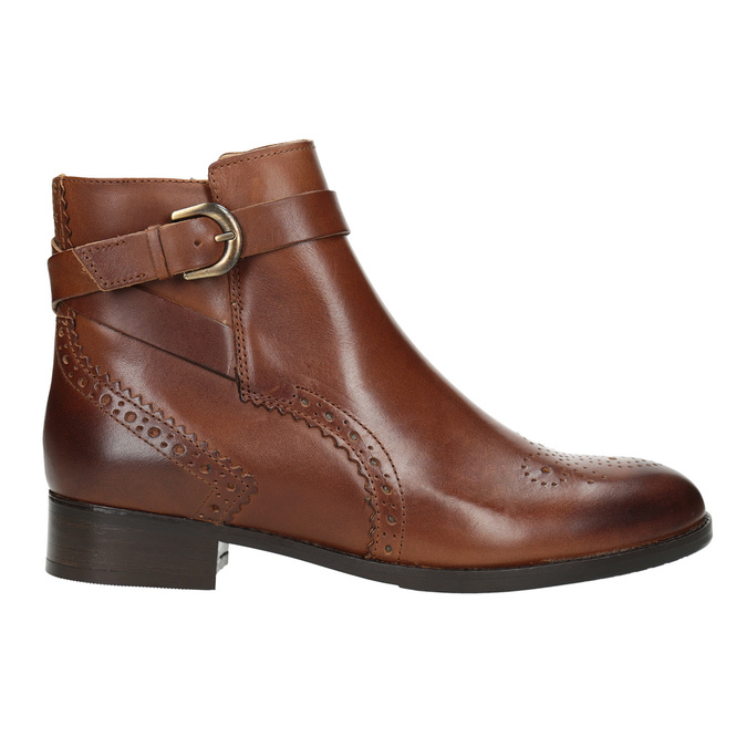 Embellished Leather Ankle Boots clarks, brown , 616-3026 - 26