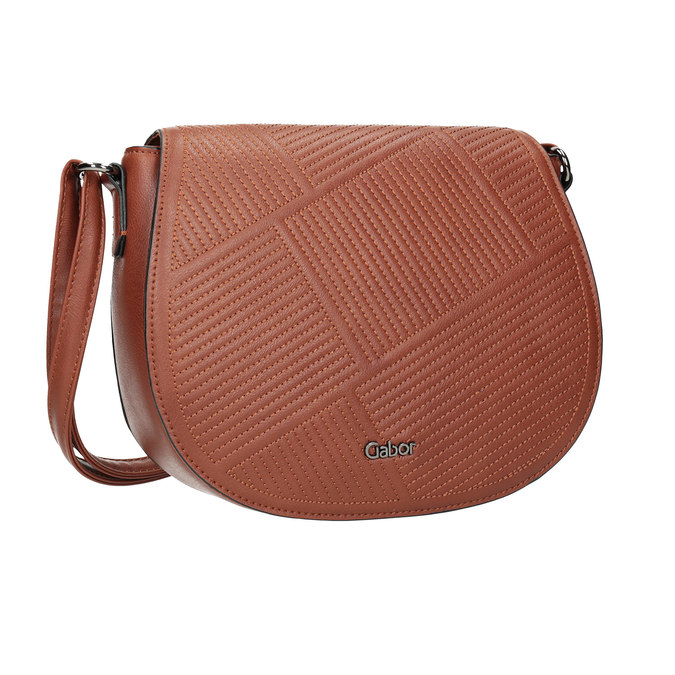 Ladies' Handbag with Stitching gabor-bags, brown , 961-3055 - 13