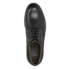 Men's leather Derby shoes bata, black , 824-6926 - 26