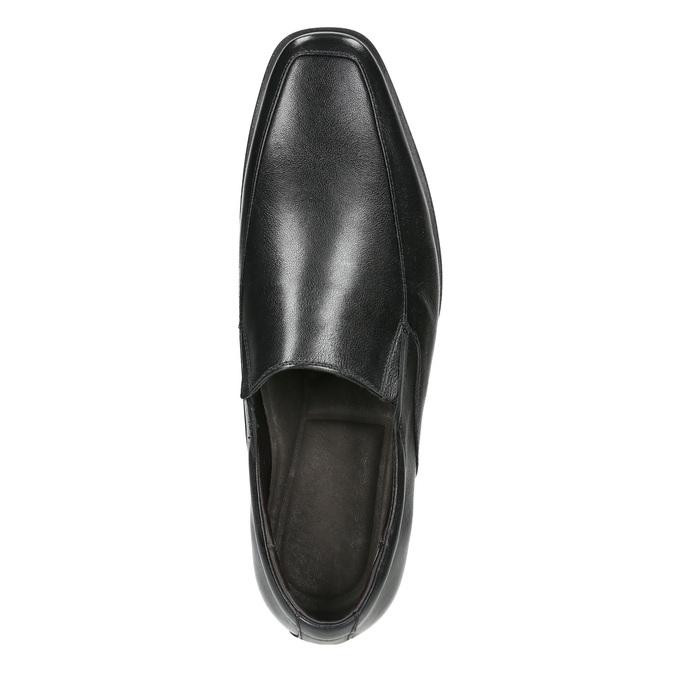 Men's leather Loafers bata, black , 814-6623 - 26