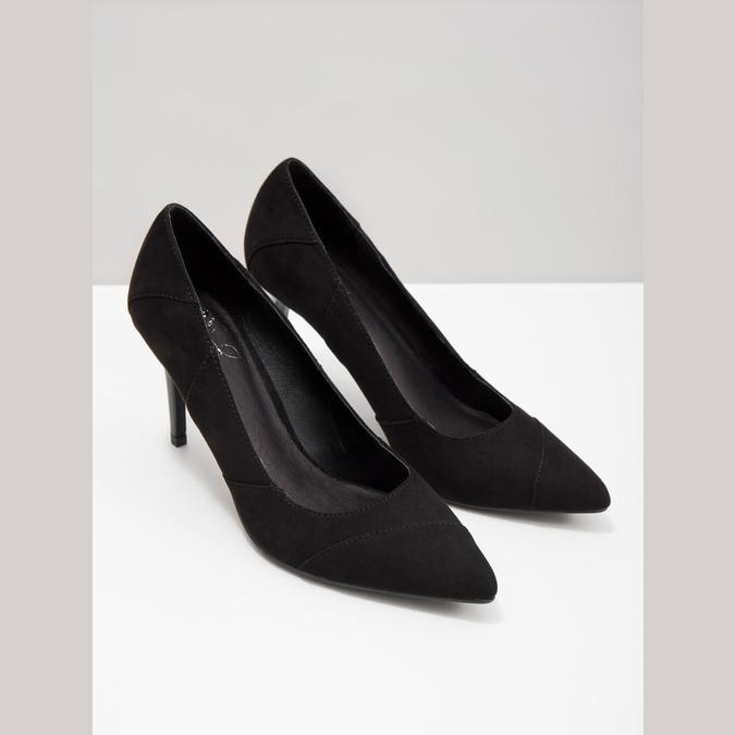 Ladies pointed pumps insolia, black , 729-6607 - 18