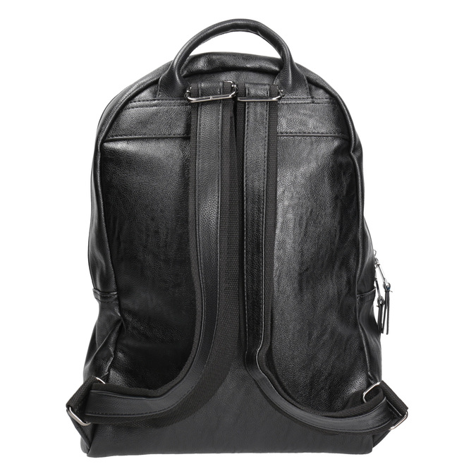 Backpack with zips bata, black , 961-6516 - 16