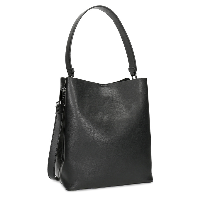 Black ladies Hobo handbag, black , 961-2173 - 13