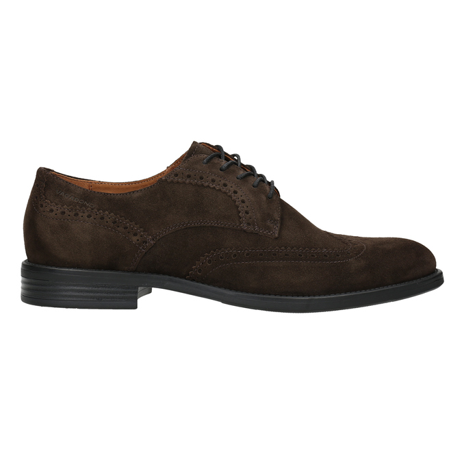 Men's Leather Brogue Lace-Ups vagabond, brown , 823-4017 - 26