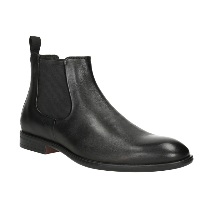 Men's Leather Chelsea Boots vagabond, black , 814-6024 - 13