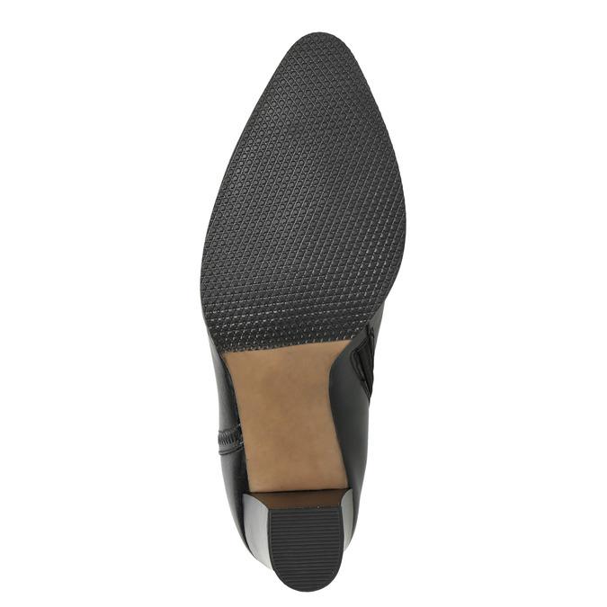 Ladies' Leather Ankle Boots bata, black , 794-6650 - 19