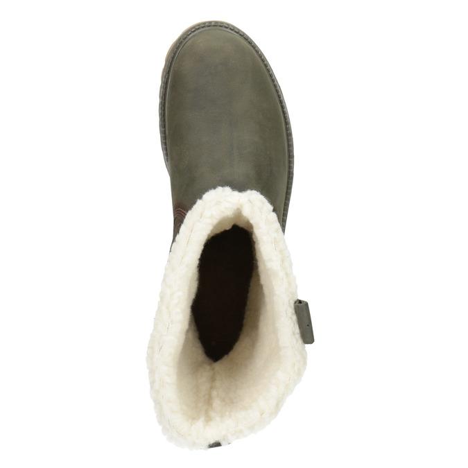 Ladies' winter boots with fur weinbrenner, khaki, 594-2455 - 15