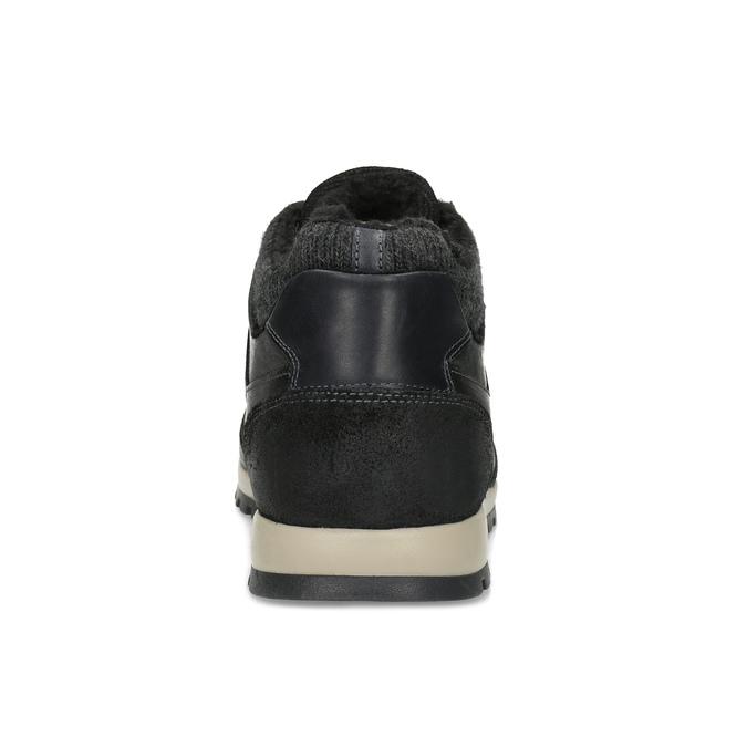 Men's Winter Sneakers bata, black , 846-6646 - 15