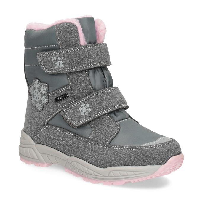 Girls' Snow Boots with Fleece mini-b, gray , 291-2625 - 13