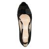 Leather open-toed pumps bata, black , 623-6603 - 15