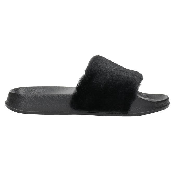 Ladies' black slippers north-star, black , 579-6624 - 26
