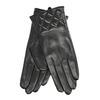 Ladies' black leather gloves, black , 904-6131 - 13