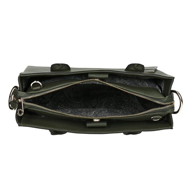 Leather handbag with strap picard, green, 966-7039 - 15